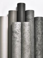 Papel tapiz autoadhesivo para tienda de ropa, papel tapiz gris, pegatina de pared decorativa de viento industrial nórdico para habitación, pared de cemento