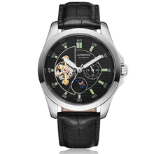 Top Brand Men Watches Automatic Mechanical Watch Mens Sport Clock Leather Casual Business Man Retro Wristwatch Relojes Hombre mens watches automatic mechanical watch tourbillon clock leather casual business wristwatch relojes hombre top brand luxury new