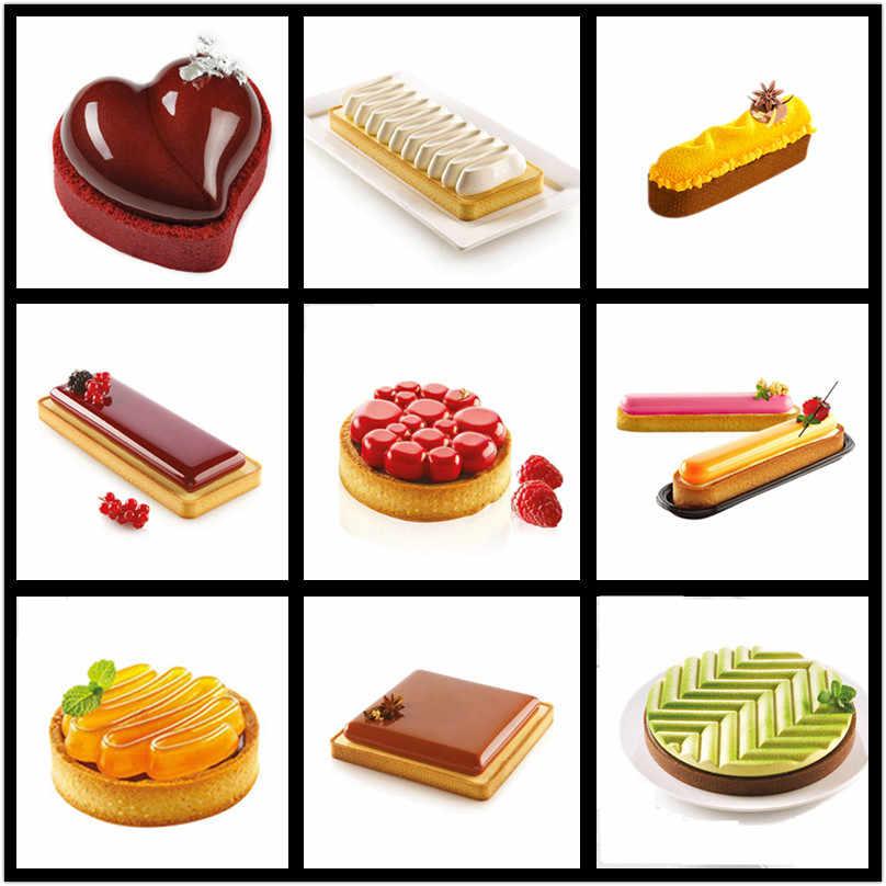SHENHONG Gebak Taartvorm Dessert Pan Siliconen Cakevorm Voor Bakken Mousse Taartje Decoratie