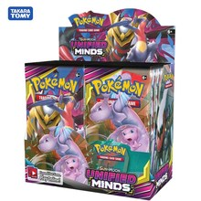 цена на 324Pcs/box Pokemon TCG: Sun & Moon Unified Minds Booster Box Multi Collectible Trading Card Set Game Card