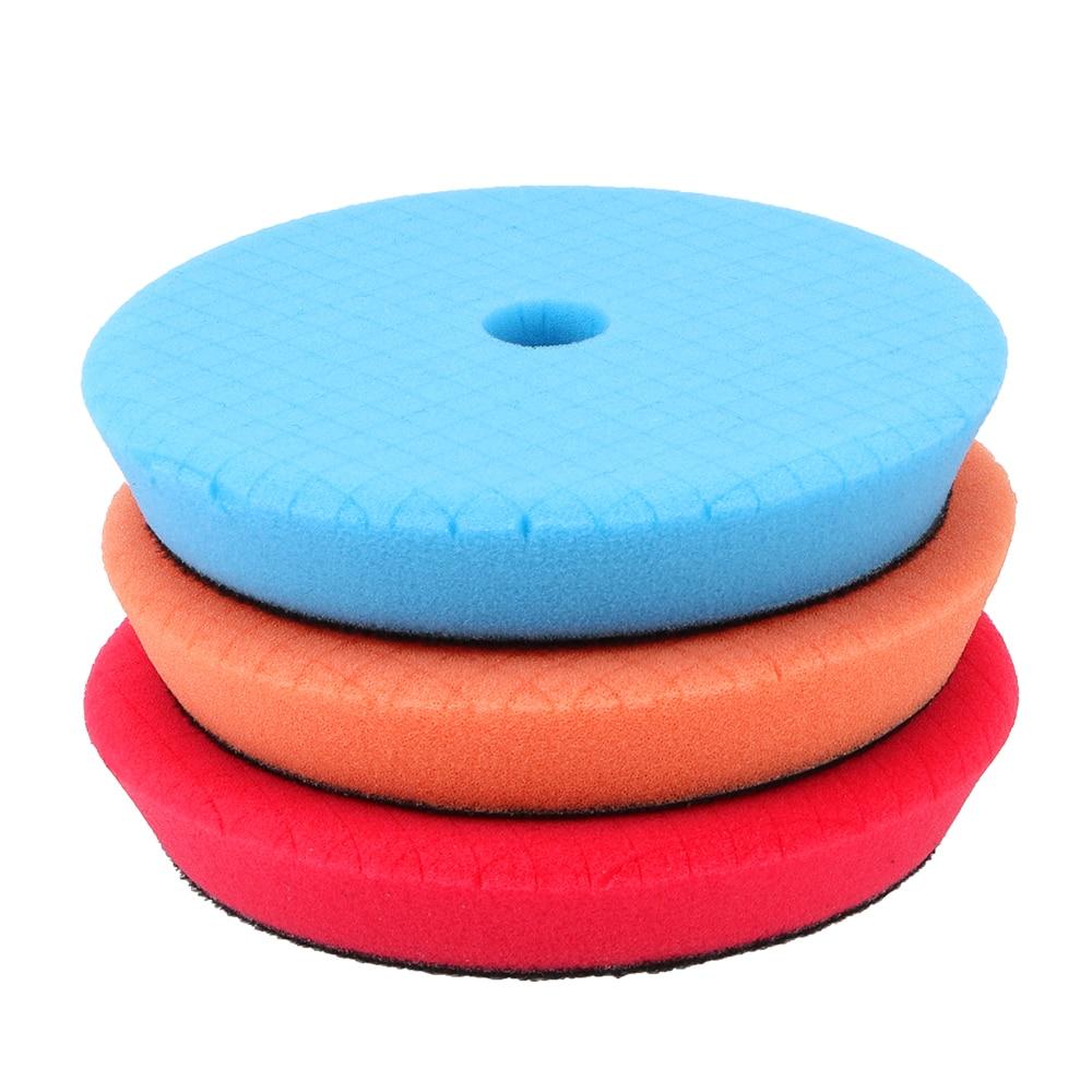 lustrando pad kit de polimento de carro encerar esponja 03