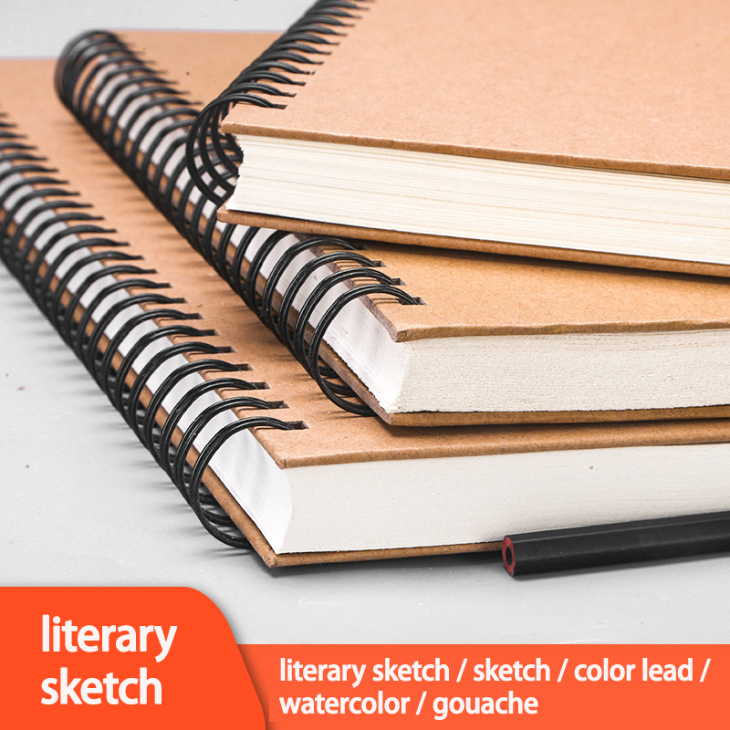 A4 Sketch Book 160g Thick Sketch Paper Drawing Album Blank Hand Drawn Book Painting Paper Student School Art Supplies 60 Sheets