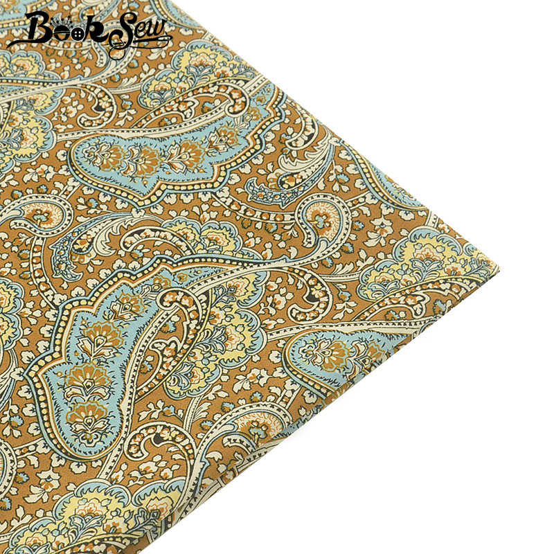 Booksew 100% Cotton Poplin Fabric Telas Ankara Fabric Quilting Cloth For Dress Clothing Craft Shirt Tissu Au Metre Home Textile