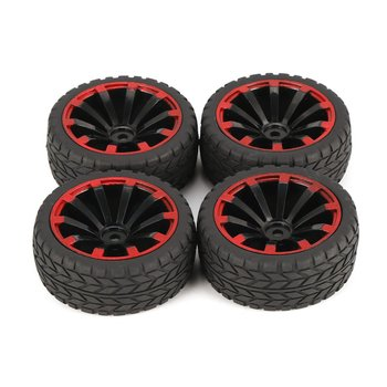 4Pcs 125mm 10 Contour Y Word Fetal Flower Off-road Wheel Rim and Tires for 1/10 Monster Truck Racing RC Car Accessories 2020 4pcs 2pcs 150mm wheel rim and tires for 1 8 monster truck traxxas hsp hpi e maxx savage flux racing rc car accessories hot