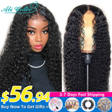 Ali Grace Wigs Brazilian Kinky Curly Human Hair Wigs Pre Plucked 13x4 Lace Frontal Wigs Remy Hair Deep Curly Lace Front Wig
