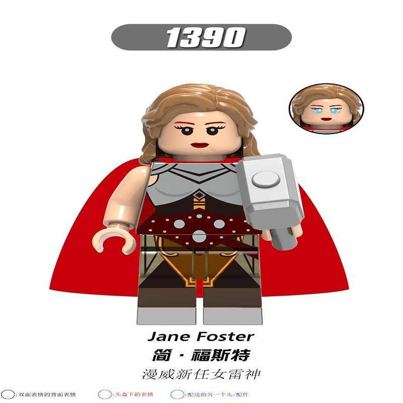X0273 blocos de construção super heróis tijolos capitão américa carter thor jane monica figuras para crianças modelo brinquedos