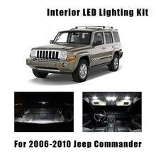 13 lâmpadas canbus branco led carro luz de leitura kit interior apto para jeep commander 2006-2009 2010 tronco passo cortesia lâmpada de licença