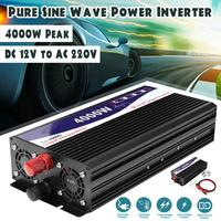 4000W Car Vehicle Power Inverter Pure Sine Wave 12V DC to 220V AC Transmitter Car Inverter with Light Inverter