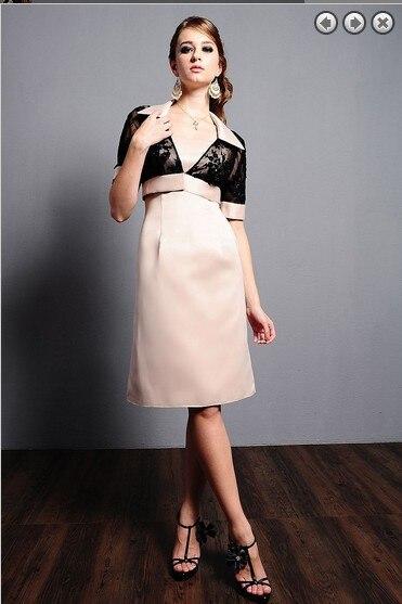 custom-made vestido de festa madrinha 2016 new fashion sexy short party Mother of the Bride Dresses with jacket free shipping