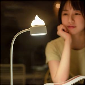 Image 5 - Youpin 3 Leven Leuke Kat Bureaulamp Usb Opladen Vouwen Clip Lichten 3 Gear Verstelbare Bureau Leeslamp Dc 5V Led Night Lamp