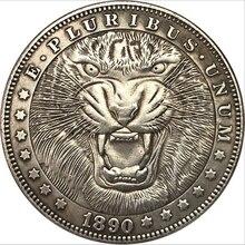 Американская монета Моргана Хобо, монета в виде животного, монета в виде льва, подарок, сувенир