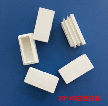 Furniture Accessories 20MM*40MM Milky White Square Plug White Plug  Plastic Square Footpad Dust-proof Plug Cover