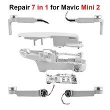 Drone Motor Arm Körper Shell Reparatur Ersatz 7 in 1 Kit für DJI Mavic Mini 2 Mittleren Rahmen Oberen Boden shell Links Rechts Arm