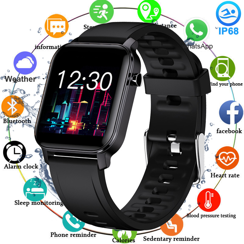 2020 Full Touch Smart Watch Ip68 Waterproof Sport Smartwatch Women Men Pedometer Fitness Tracker Watch Blood Pressure Heart Rate