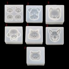 Cute Pet Bear Dog Cat  Pendant Resin Silicone Mold Jewelry Making Tools Art Craft