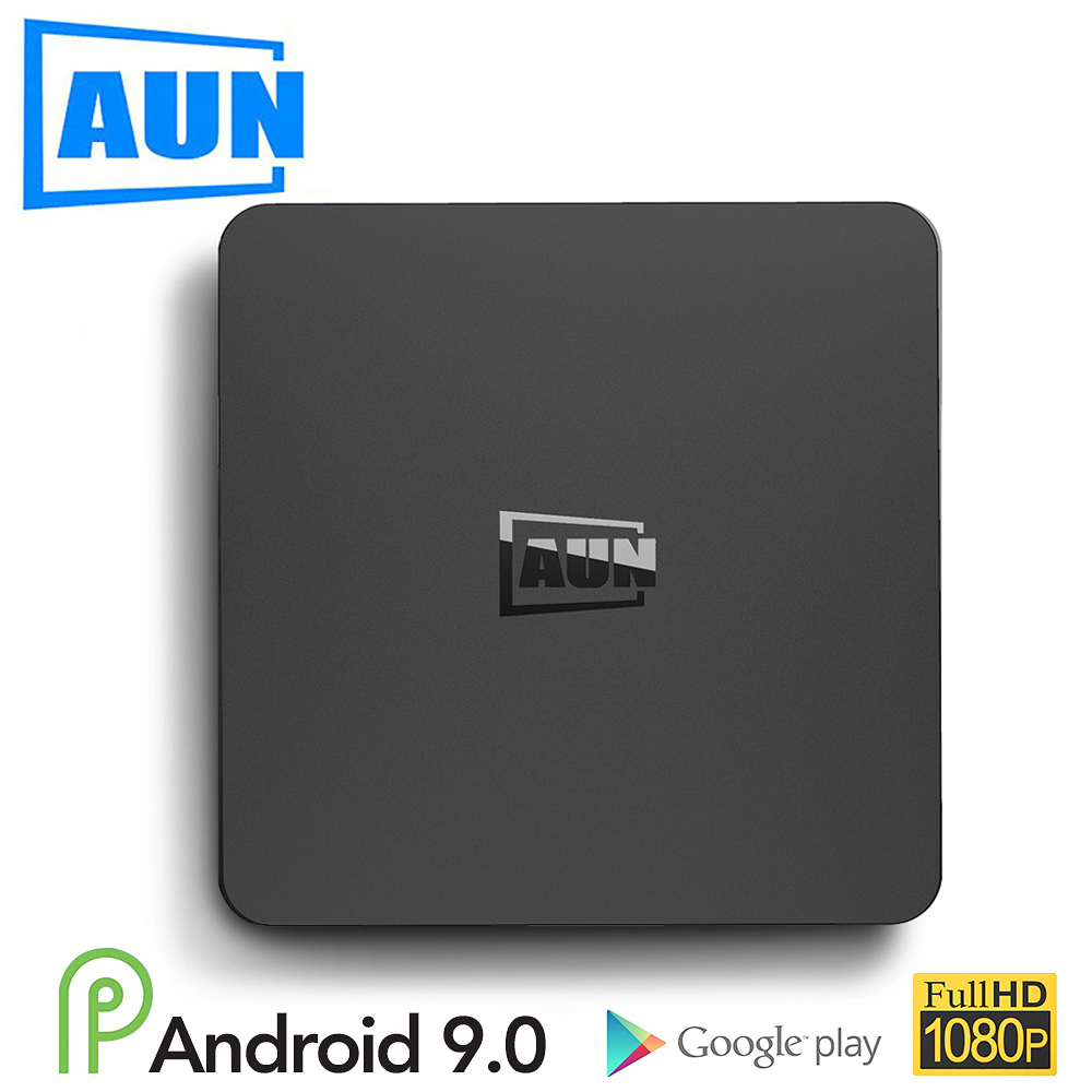 AUN Smart TV Box Android 9.0 ,2GB RAM+16G ROM 4K Ultra HD Decoding, WIFI Google Player Netflix Set Smart Top Box 1