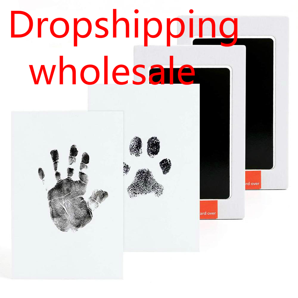 Baby Footprints Handprint Ink Pads Safe Non-toxic Ink Pads Kits For Baby Inkless Mess Baby Pet Paw Prints Souvenir Dropshipping