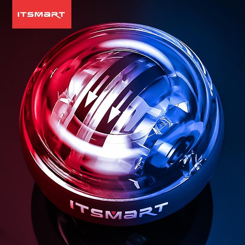 Светодиодный запястный шар ITSSMART, супер гироскоп, powerball, самозапуск гироскопа, тренировка силы рук, расслабление мышц, оборудование для спорт...