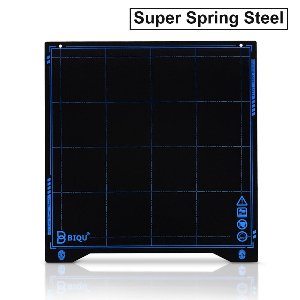 Biqu SSS Super Spring Baja Lembaran Panas Bed Platform 235*235 Mm 3D Bagian Printer Cetak Buildplate PLA PETG untuk Ender-3 Printer