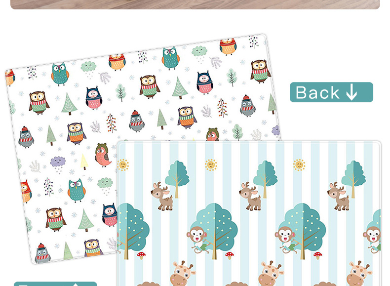 H959c457ef54f4be385287b1bd02b3cb0k Miamumi Portable Baby Play Mat XPE Foam Double Sided Playmat Home Game Puzzle Blanket Folding Mat for Infants Kids' Carpet Rug