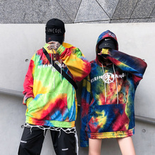 Cooo Coll 19SS Tie dyeing Hoodie Men Women Autumn Terry Hip Hop Season6 High Street Sweatshirt Harajuku Kanye West Tops