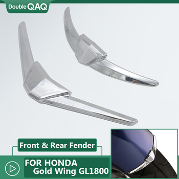 Chrome Motorcycle Rear and Front Fender Tip Case for Honda Goldwing GL1800 GL 1800 From 2018 2019 2020 image