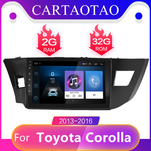 2Din android 8.1 For Toyota Corolla \ Ralink Android 2013 2014 2015 2016 Car Radio Multimedia Player 2 din navigation gps 10.1'