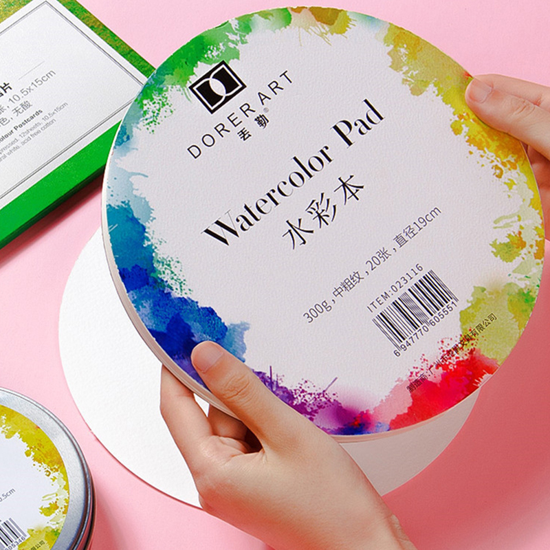 300g Watercolor Paper Pad Water-soluble Drawing Paper For Hand Painted Art Supplies Portable Cotton Paper Cards Colors