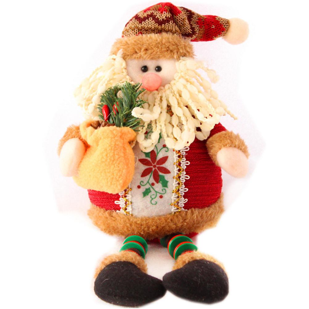 Christmas Doll Sitting Santa For GloryStar Claus/Snowman/Elk Shape Toy Xmas Tree Ornament For Home