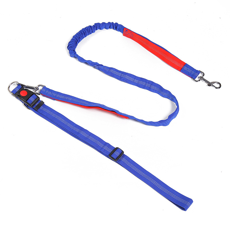 Pet Supplies Elasticity Running Hand Holding Rope Dog For Running With Lanyard