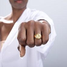 Панк начальный перстень кольцо для женщин Золотой Цвет из нержавеющей