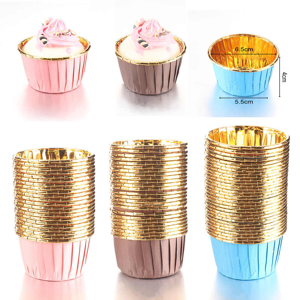 Cake Liner Crimping Muffin Cases Baking Mold Cupcake Wrappers Cake Paper Cups