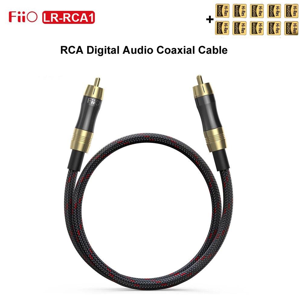 Fiio LR-RCA1 cavo coassiale Audio digitale RCA 50cm spina RCA placcata in oro per PC TV amplificatore K5 Pro BTA30 LR RCA1