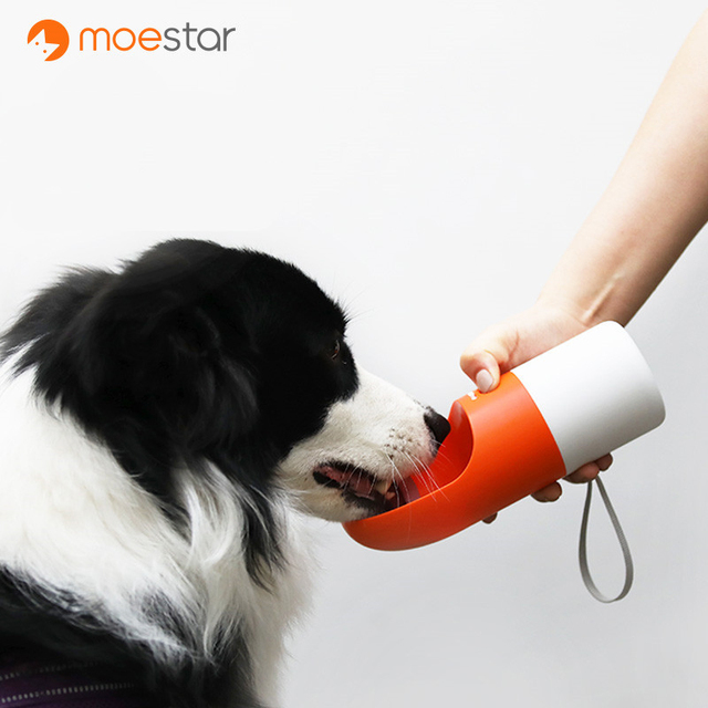 MOESTAR ROCKET 270ML Portable Dog Water Bottle Fashion Pet Dog Travel Water Bottle Dispenser