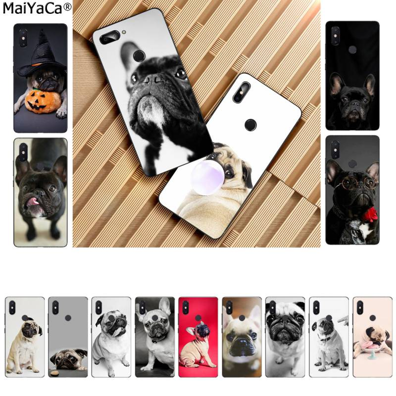 MaiYaCa Tier Nette Mops Hund Luxus Mode DIY Luxus High-end-telefon Fall für <font><b>Xiaomi</b></font> 8 9 se <font><b>Redmi</b></font> 6 pro 6A 4X7 hinweis 5 7 image