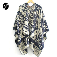 Women's Luxury Sweater Poncho Cape Coat Open Front Blanket Shawls and Wraps Cardigan Open Front Shawl Scarves Female Ruana