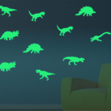 Decal Wall-Stickers Baby Kids Dinosaur 9pcs/Pack Home-Decor Glow-In-The-Dark Luminous