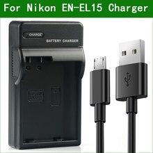 EN-EL15 ENEL15 EN EL15 MH-25 зарядное устройство для цифровой камеры Nikon D800 D800E D810 D810A D850 D7000 D7100 D7200 D75001 V1