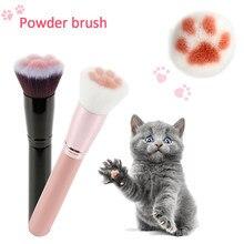 Pinceaux de maquillage, patte de chat, outil cosmétique, Contour doux, poudre de fond de teint, brosse à Blush, 1 pièces