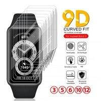 3-12 pezzi di pellicola morbida in idrogel per Huawei Band 6 Band6 9D pellicola protettiva curva su Huawei Huawey Band 6 Smart Wristband non in vetro