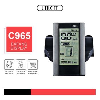 Bafang C965 LCD indicador de velocidad de conversión de bicicleta eléctrica Motor central BBS01B BBS02B BBSHD ebike Kits