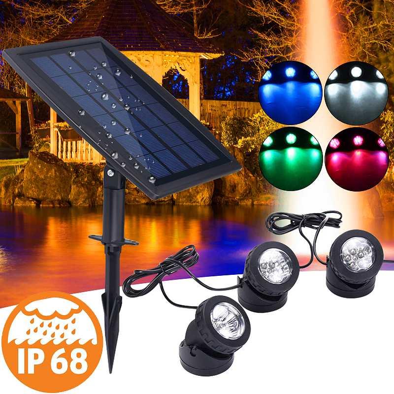 Solar Energy LED Waterproof Light Lamp for Home Decor Pond Pool Garden Path