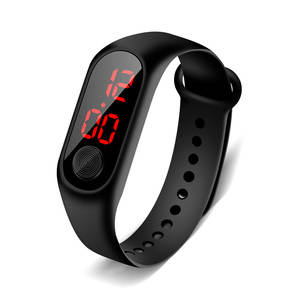 LED Digital Watch Fashion Sport Watches Men Women Casual Bracelet Boys Electronic Silicone Wrist Watch