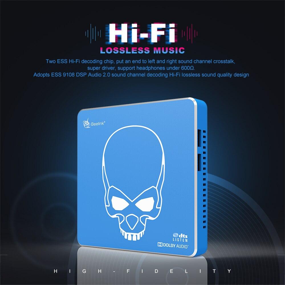 Neue Ankunft Beelink GT-König Pro Hallo-fi Verlustfreie Sound TV Box mit Dolby Audio Dts Hören Amlogic S922X-H Android 9.0 4GB 64GB