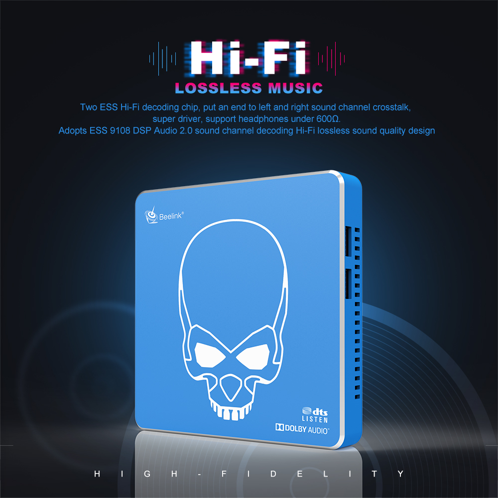 New Arrival Beelink gt-king Pro Hi-Fi bezstratnej dźwięku tv, pudełko z Dolby Audio Dts słuchaj Amlogic S922X-H Android 9.0 4GB 64GB