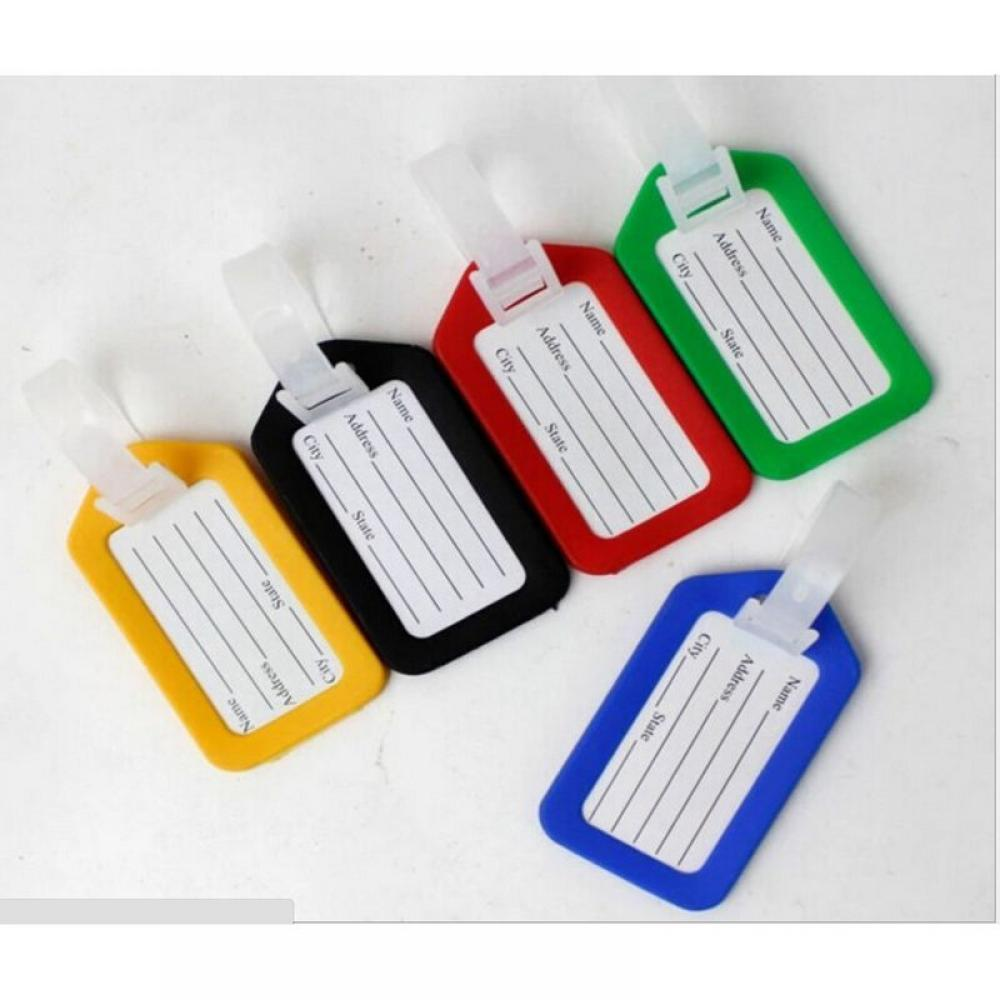 1pc Hot Selling Random Tags Labels Strap Name Address ID Suitcase Bag Baggage Travel Luggage