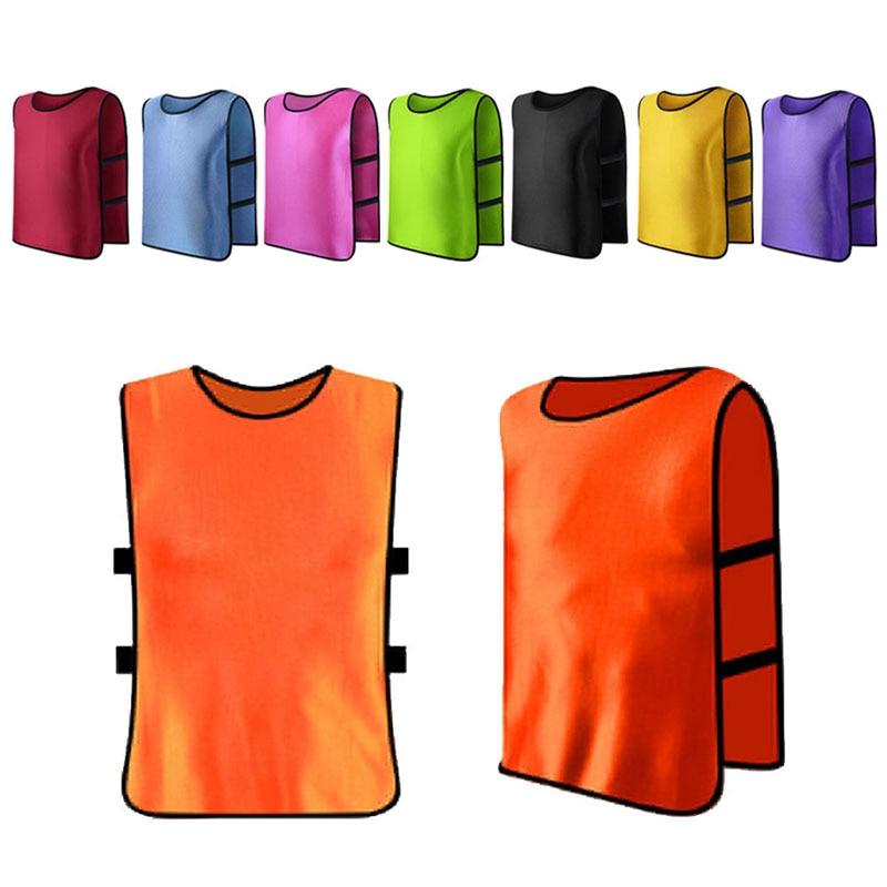Children Kid Team Sports Football Soccer Training Pinnies Jerseys Train Bib Vest