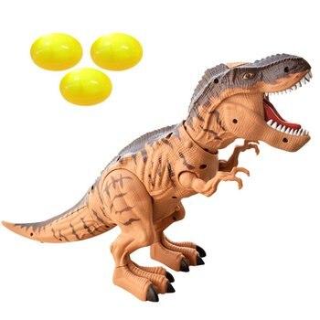 Electric Dinosaur Laying Egg Projection Winding Dragon Dinosaur Model Toy Electric Walking Spray Dinosaur Toy