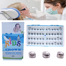 Dental-Tools Crown Temporary-Crowns Preformed Kid 1-Box 48pcs Molar Primary Stainless-Steel