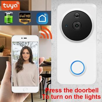 Tuay Smart Video Doorbell Smart Wireless WiFi Security Door Bell Visual Recording Home Monitor Night Vision Intercom door phone